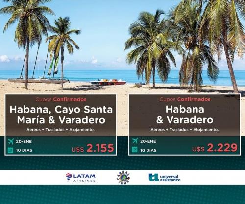 PAQUETES A CUBA ENERO 2020